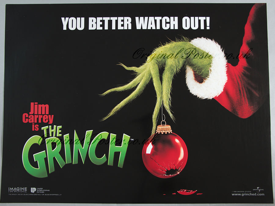 How The Grinch Stole Christmas Jim Carrey.How The Grinch Stole Christmas Modern Film Posters