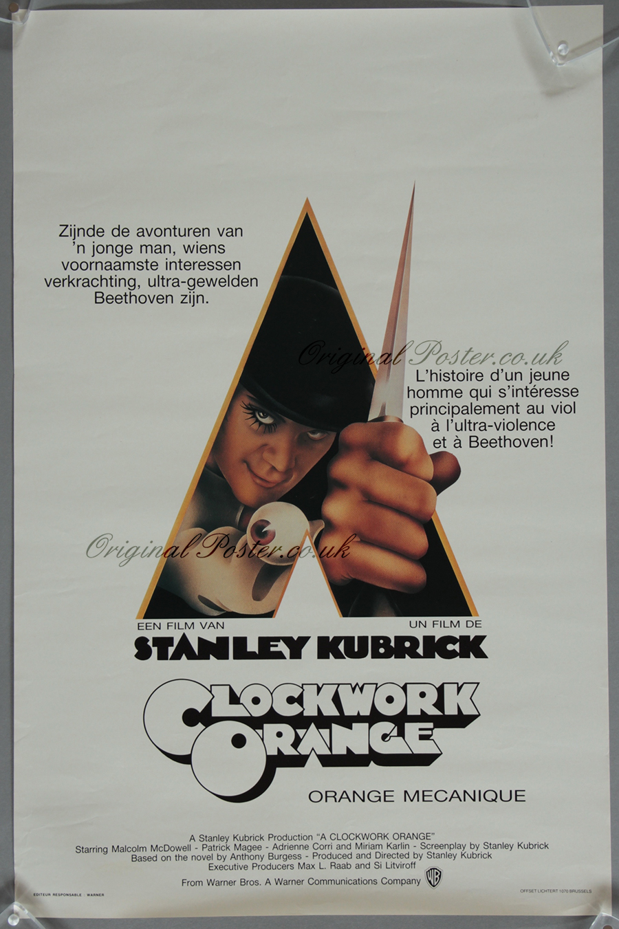 A Clockwork Orange, Original Vintage Film Poster ...