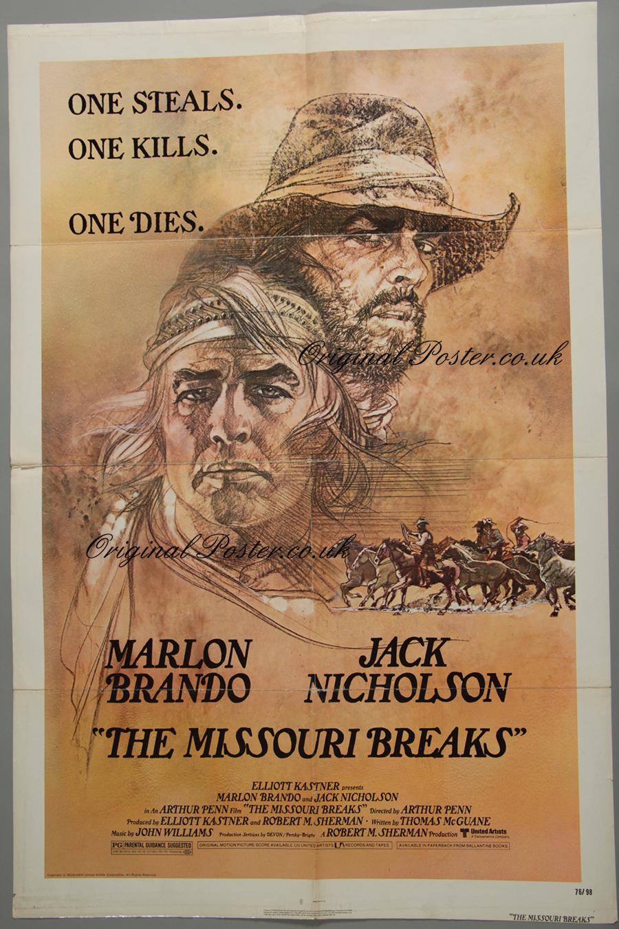 The Missouri Breaks, Original Vintage Film Poster  Original Poster -  vintage film and movie posters