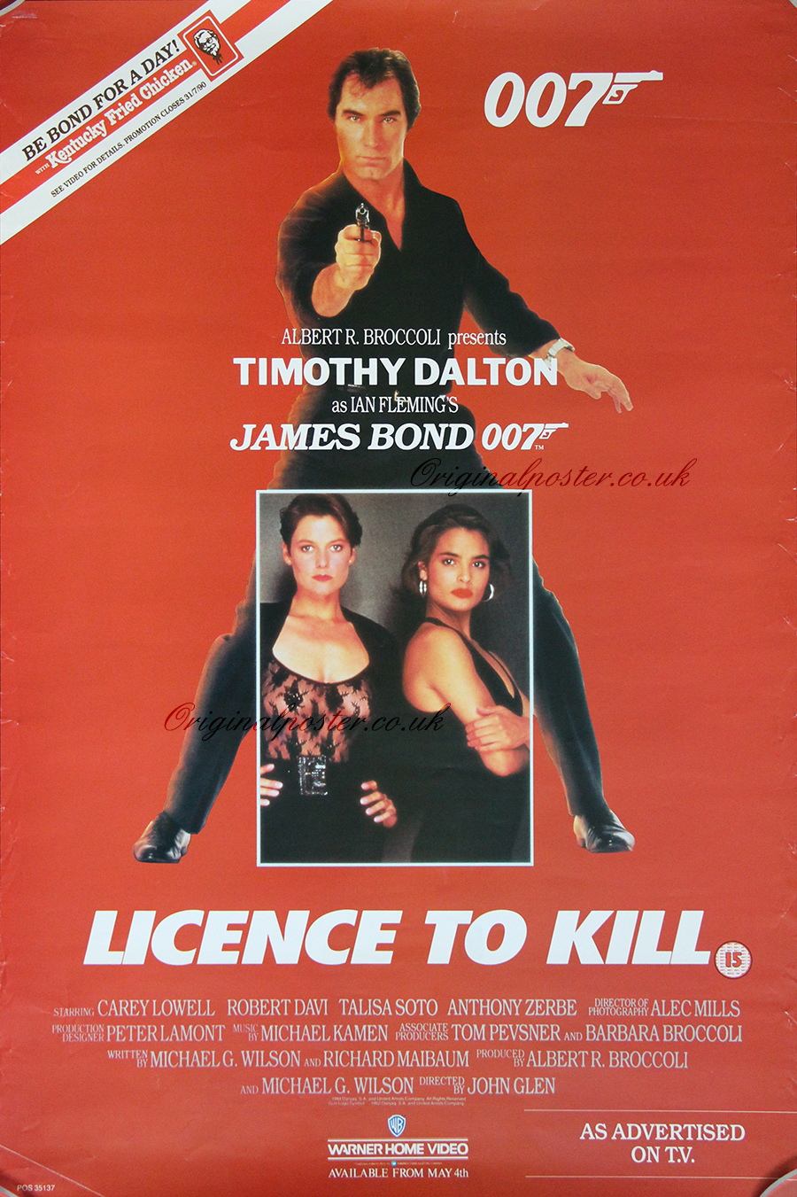 Licence to Kill, Original Vintage Film Poster | Original ...
