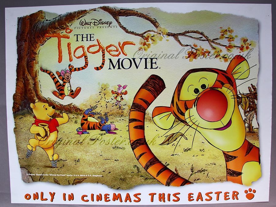 the tigger movie modern film posters original poster