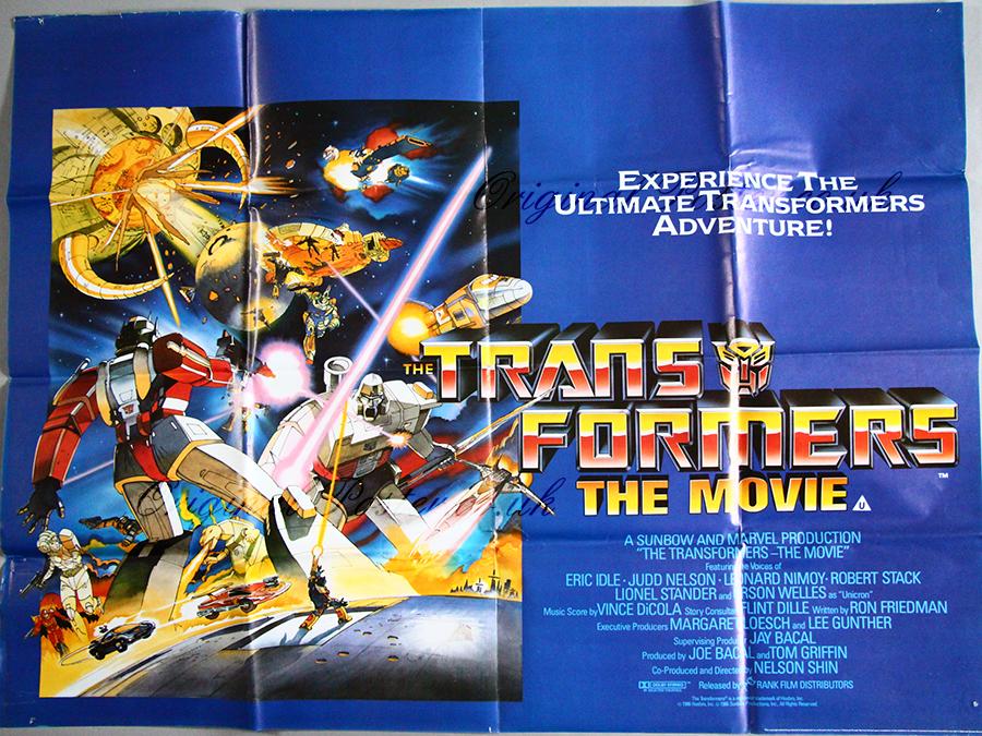 the transformers the movie original vintage film poster