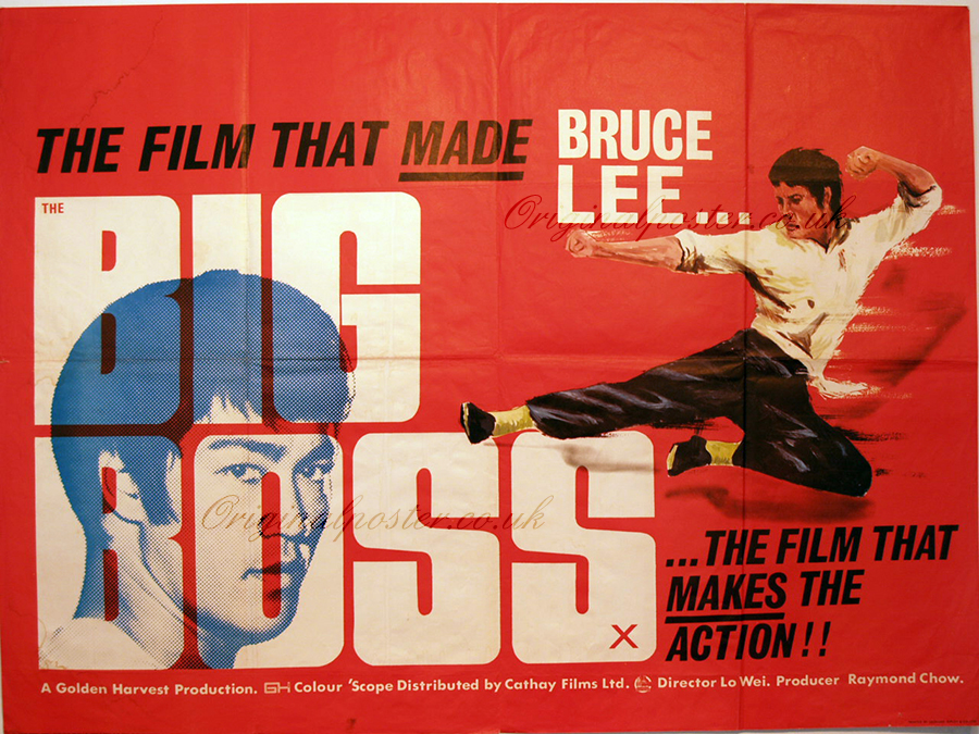 big boss original vintage film poster original poster
