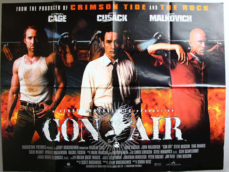 Movie Posters 1997: Con Air, Modern Film Posters