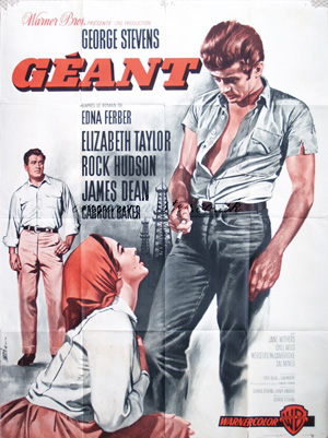 giant geant original vintage film poster original poster vintage film and movie posters. Black Bedroom Furniture Sets. Home Design Ideas