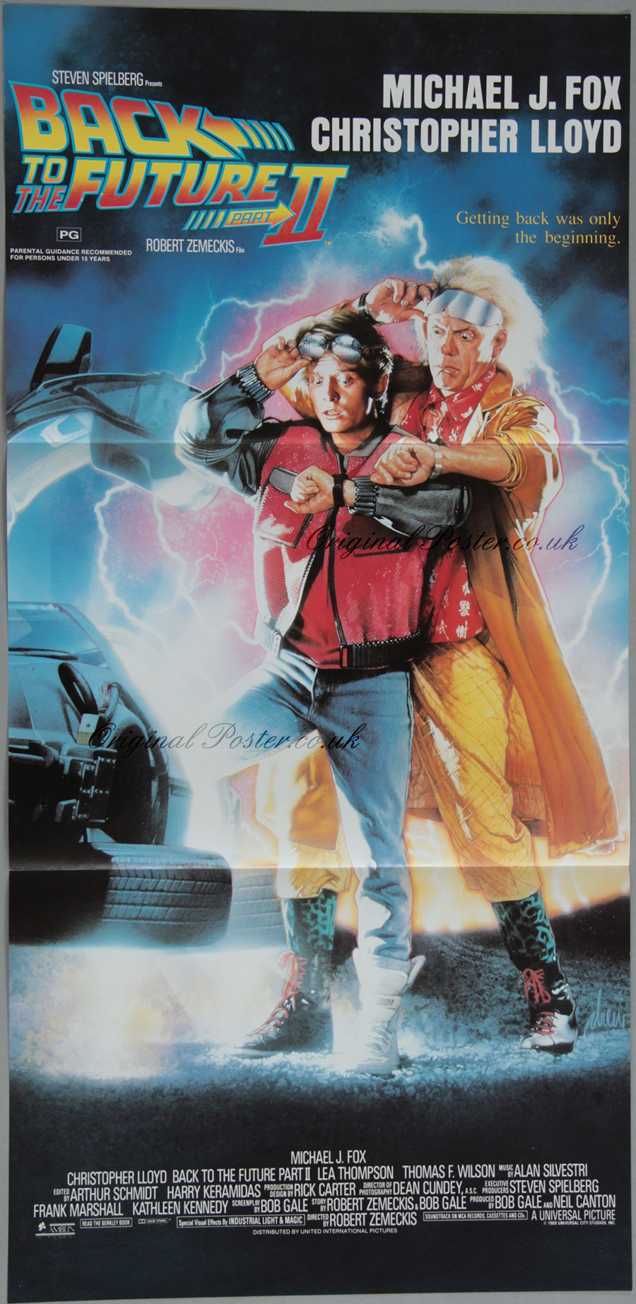 back to the future part ii original vintage film poster original poster vintage film and. Black Bedroom Furniture Sets. Home Design Ideas