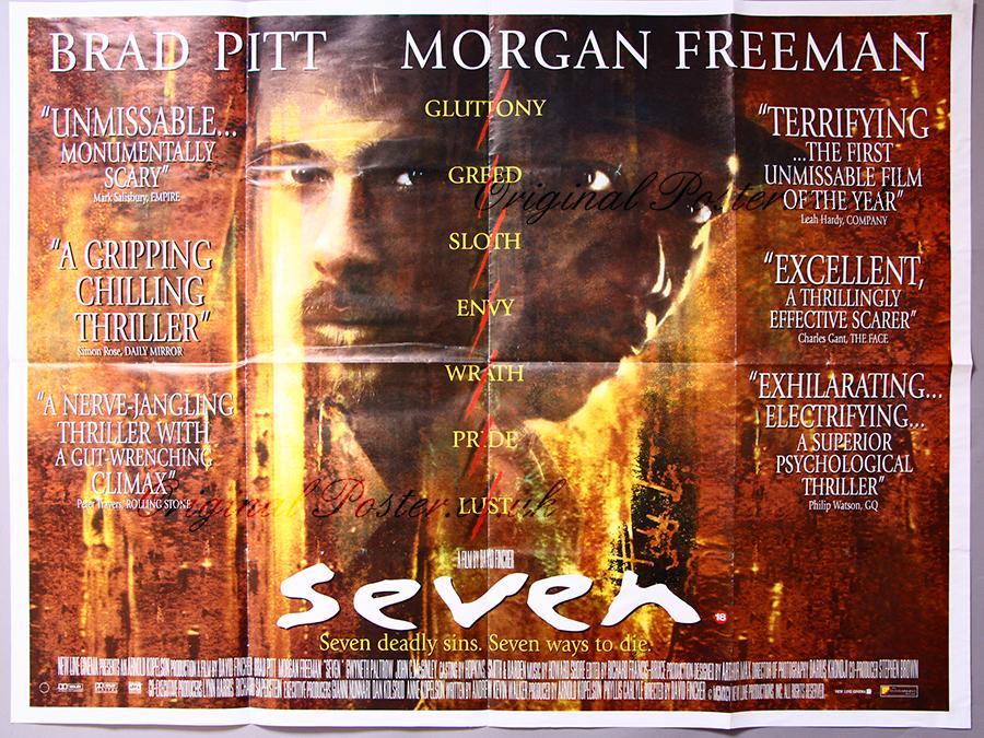 Seven, Original Vintage Film Poster | Original Poster ...