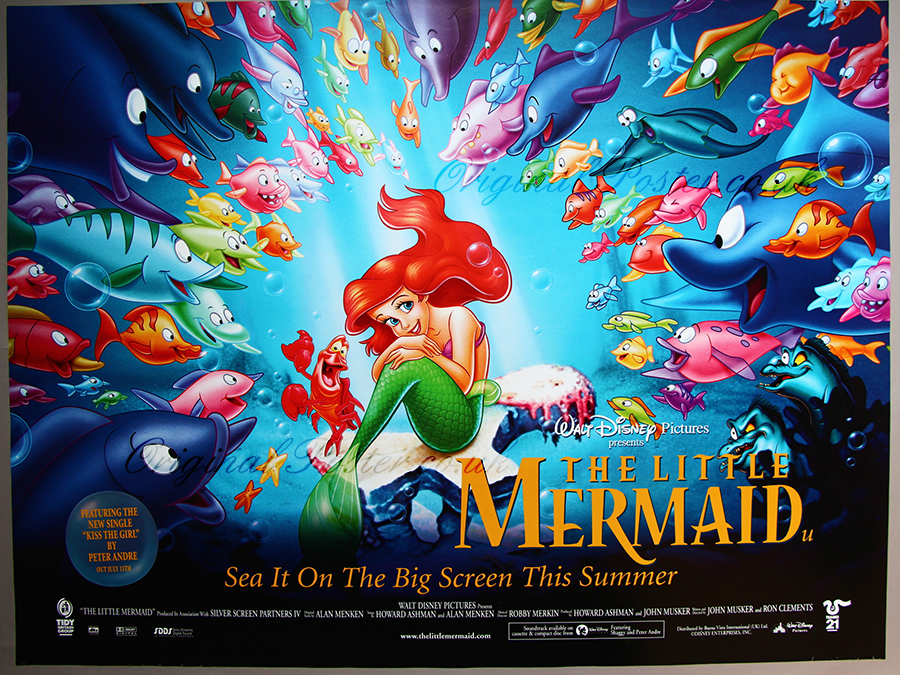 The Little Mermaid, Modern Film Posters| Original Poster - vintage ...