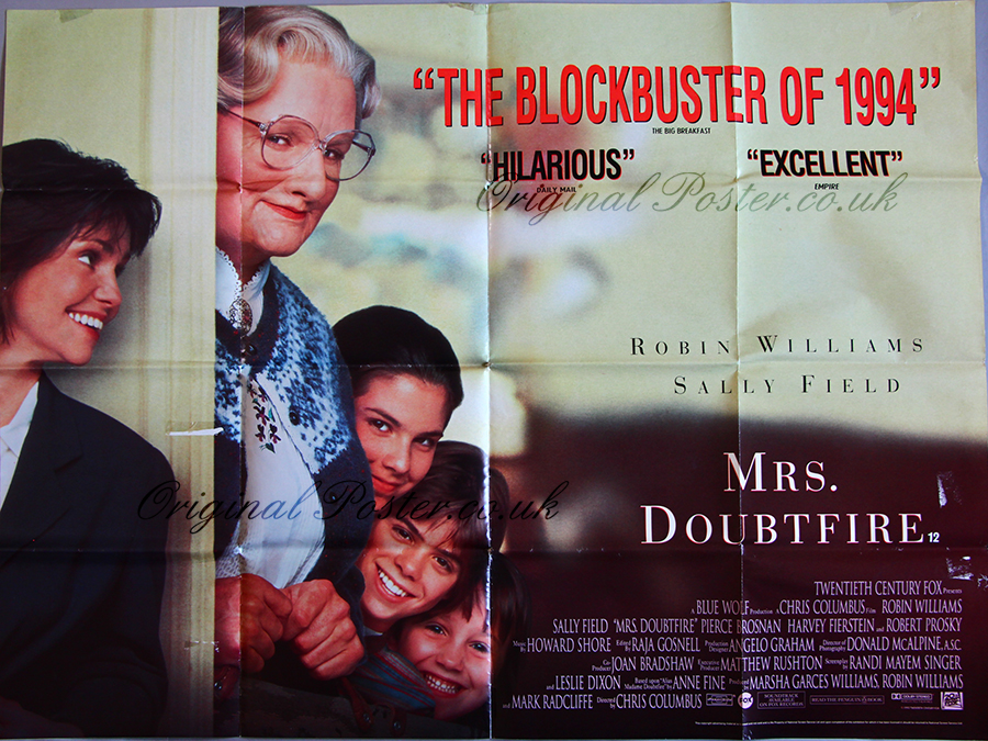 Mrs. Doubtfire Poster | www.imgkid.com - The Image Kid Has It!