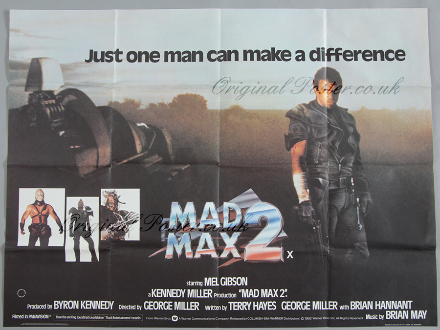 Mad Max 2 Original Vintage Film Poster Original Poster Vintage Film And Movie Posters