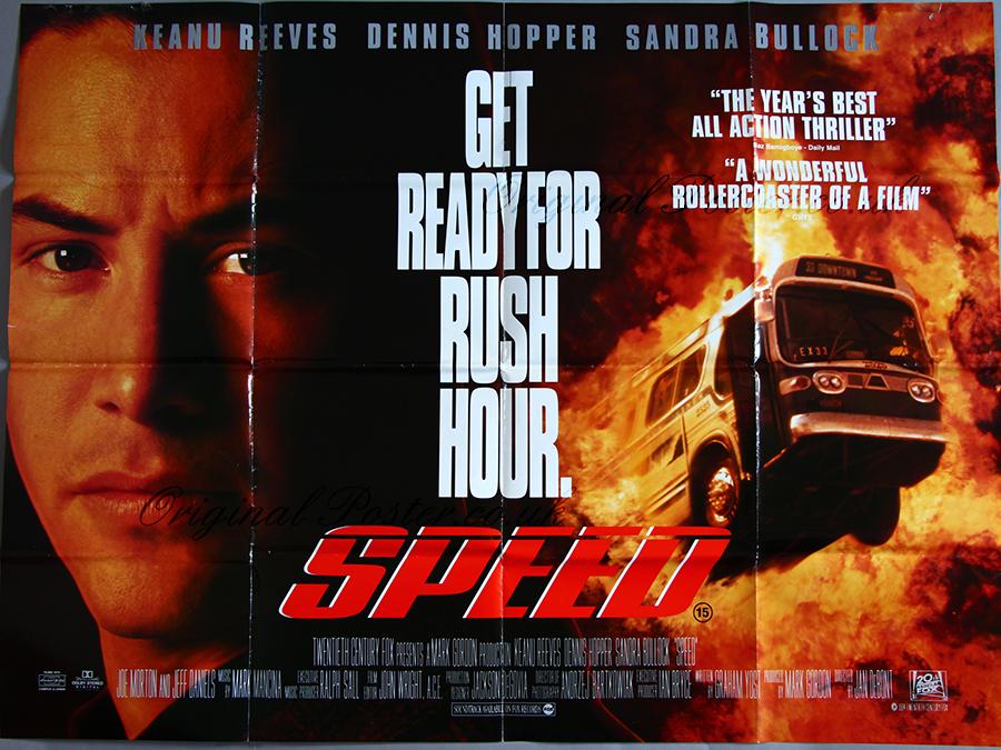 Speed, Original Vintage Film Poster  Original Poster - vintage film and  movie posters