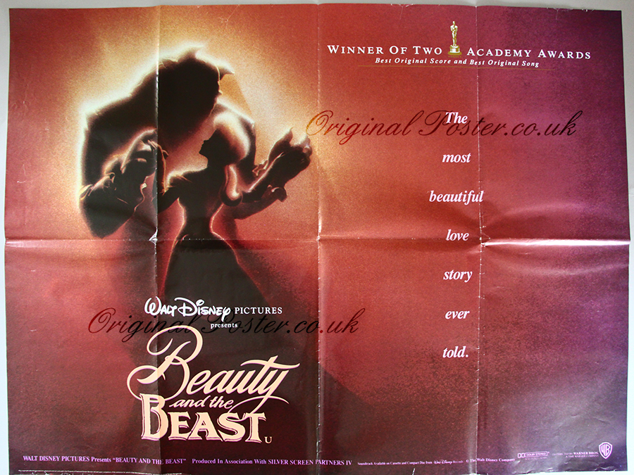 beauty and the beast original vintage film poster