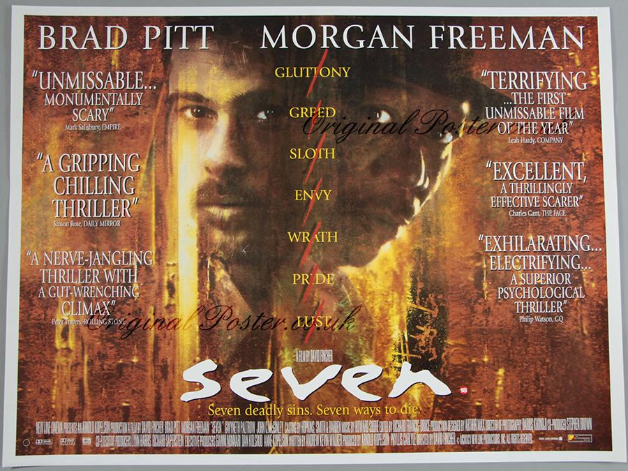 se7en seven original vintage film poster original