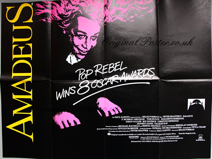 Amadeus, Original Vintage Film Poster | Original Poster ...