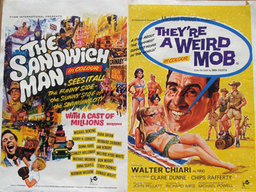 The Sandwich Man / They're a Weird Mob, Original Vintage Film Poster ...