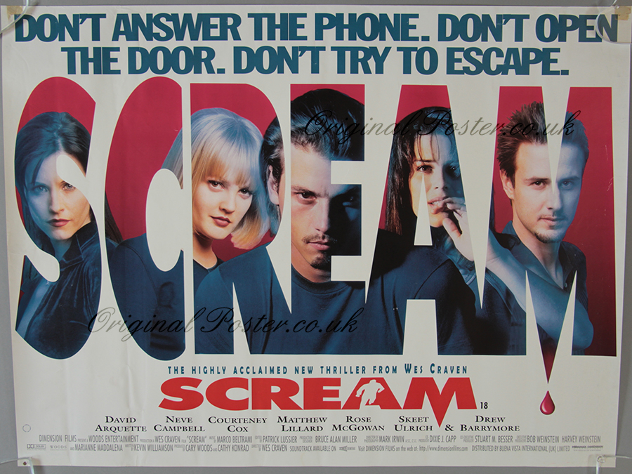 Scream, Original Vintage Film Poster | Original Poster ...