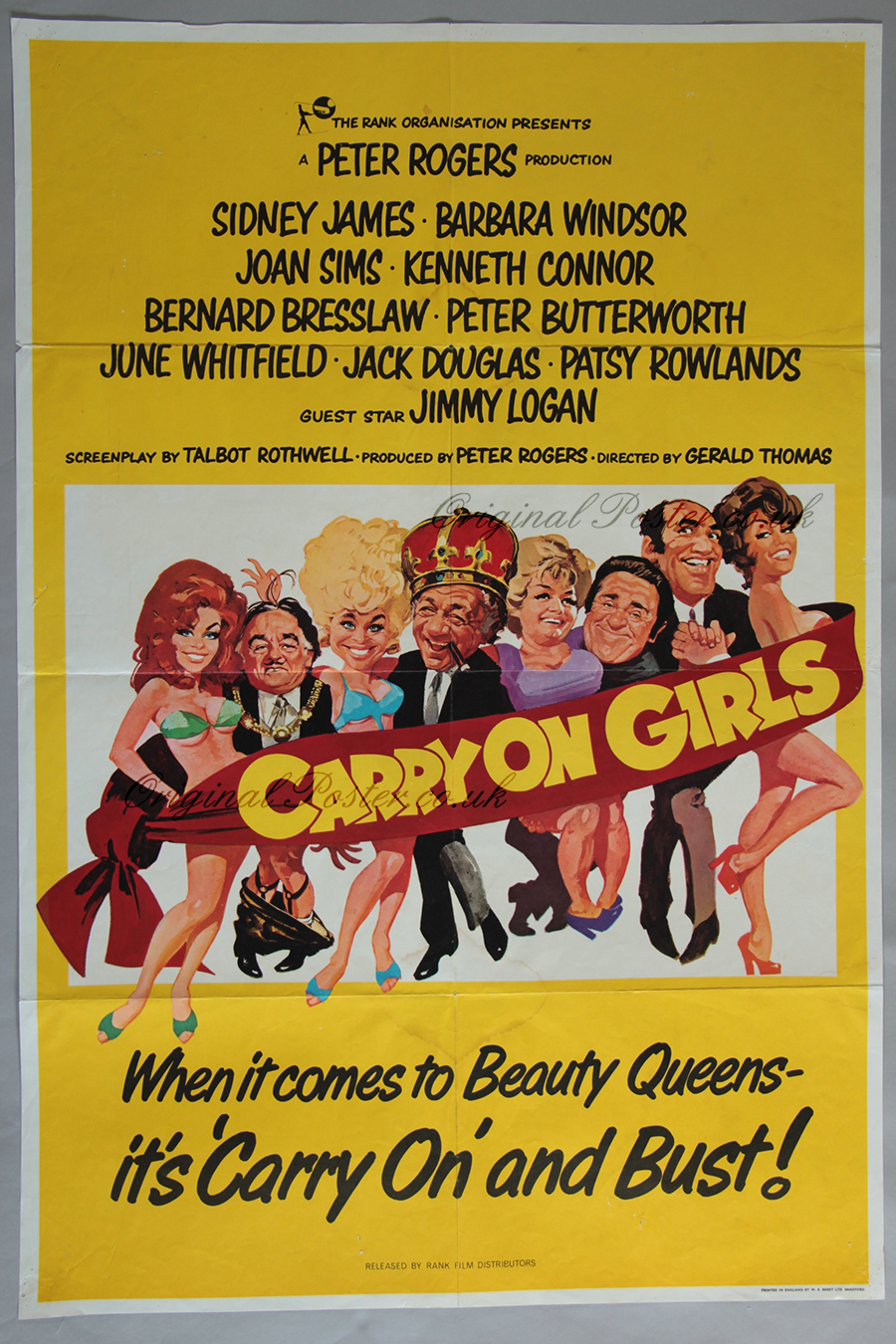 Carry on Girls, Original Vintage Film Poster | Original ...