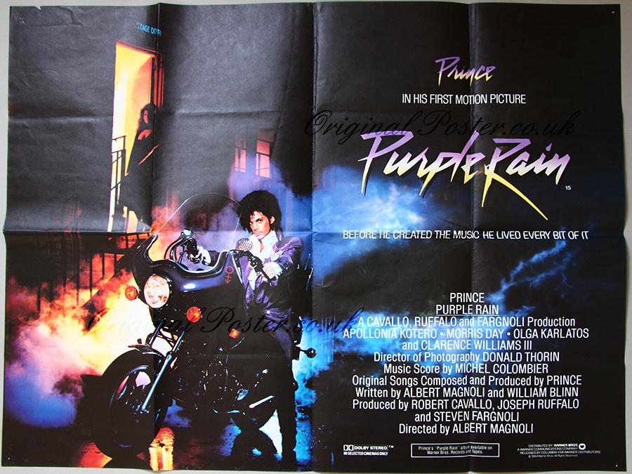 Purple Rain Original Vintage Film Poster