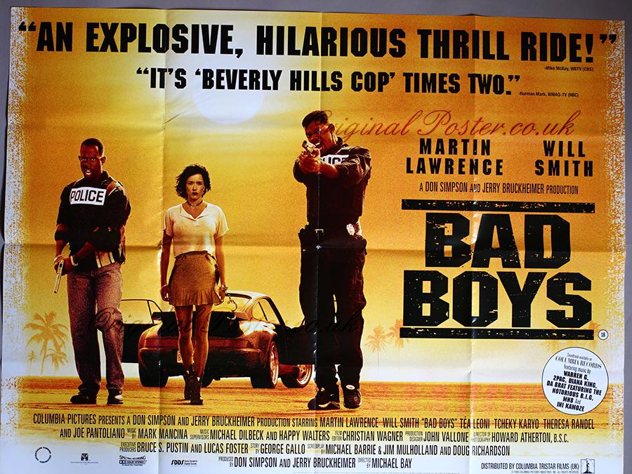 1995 Movie Posters: Bad Boys, Original Vintage Film Poster
