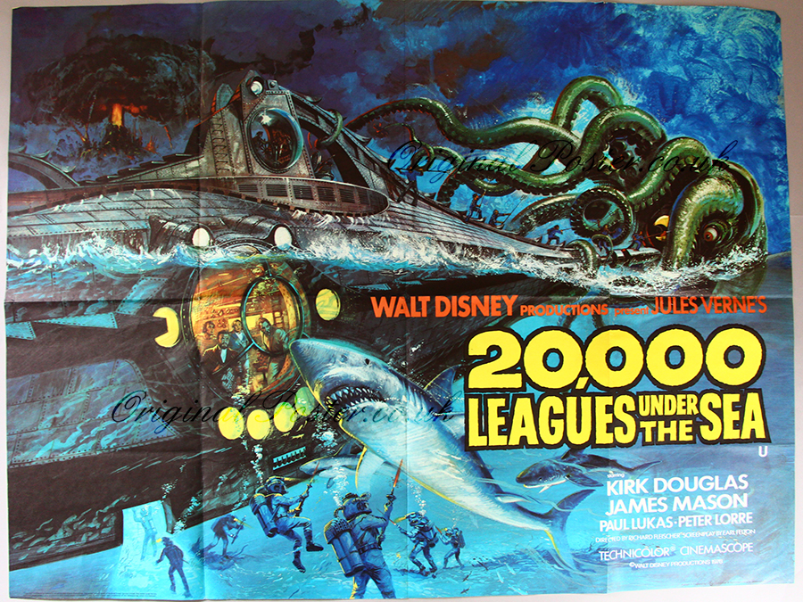 20,000 Leagues Under The Sea, Original Vintage Film Poster ...