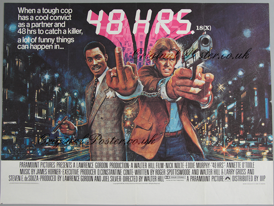 48 hours original vintage film poster original poster