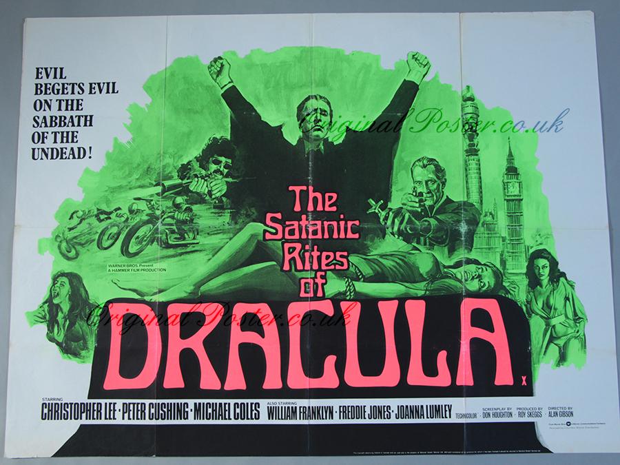 THE SATANIC RITES OF DRACULA MCTCT Joanna Lumley Signed Photograph