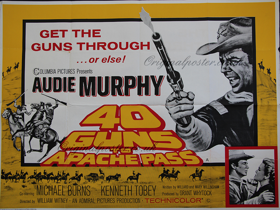 40 Guns To Apache Pass Original Vintage Film Poster