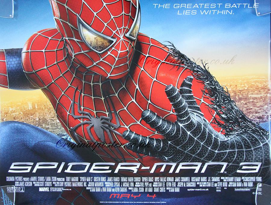 Spider Man 3 Original Vintage Film Poster