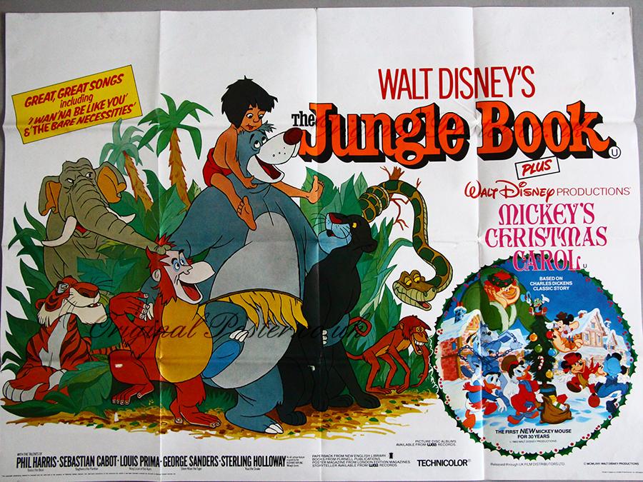 Mickeys Christmas Carol Book.The Jungle Book Mickey S Christmas Carol Original Vintage