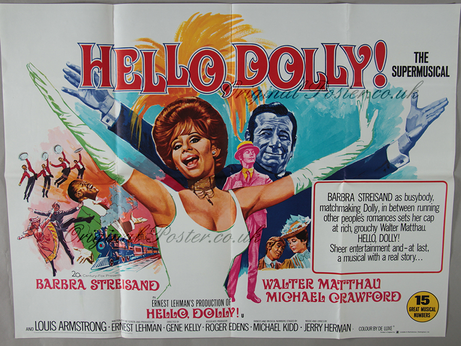 hello dolly original vintage film poster original