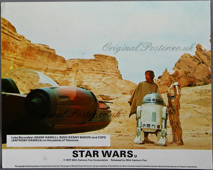 Star Wars, Front of House / Lobby Cards | Original Poster ...