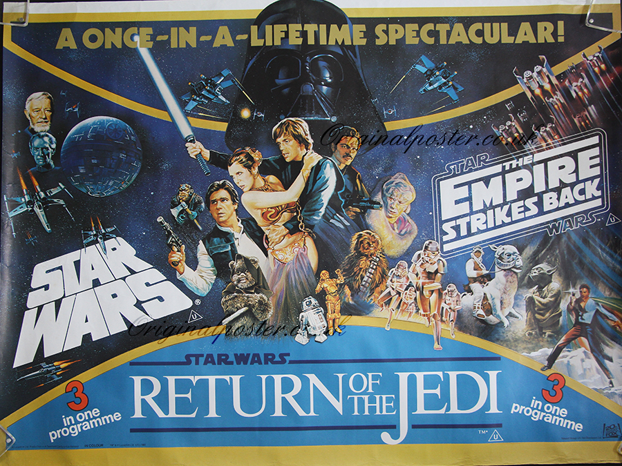 1983 Movie Posters: Star Wars / Empire Strikes Back / Return Of The Jedi