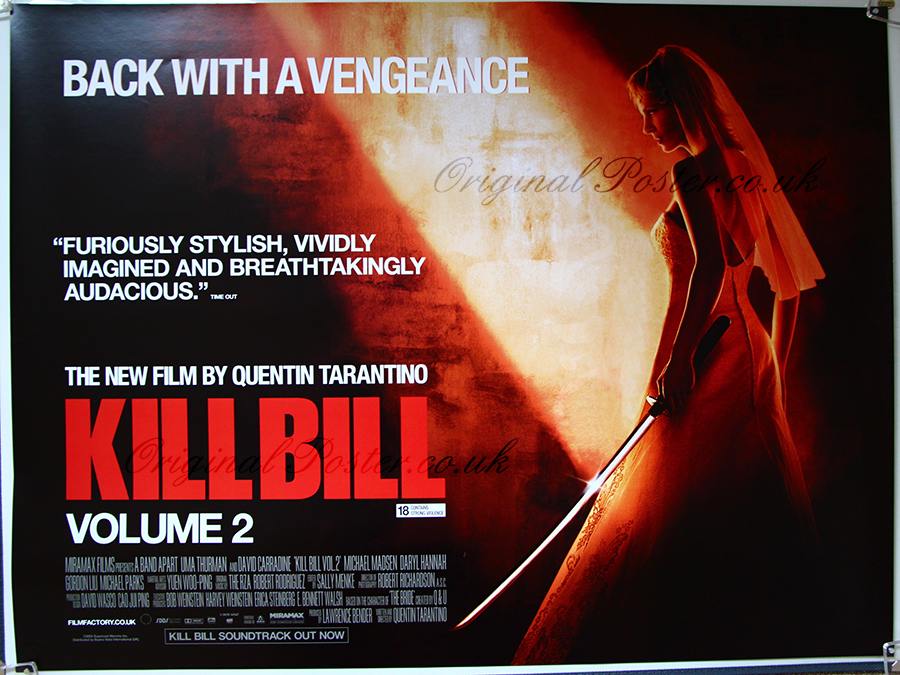 a report on kill bill volume ii a martial arts film by quentin tarantino Kill bill: vol 2 2004 action / crime budd in this quentin tarantino movie after our now bouncer is excellent in this martial arts flick overall vol 2 is.