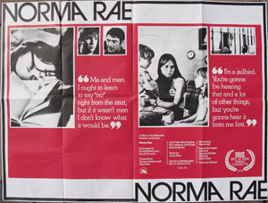 an analysis of the film norma rae Summaries like a lot of her family before her, norma rae works at the local textile mill, where the pay is hardly commensurate with the long hours and lousy working conditions.