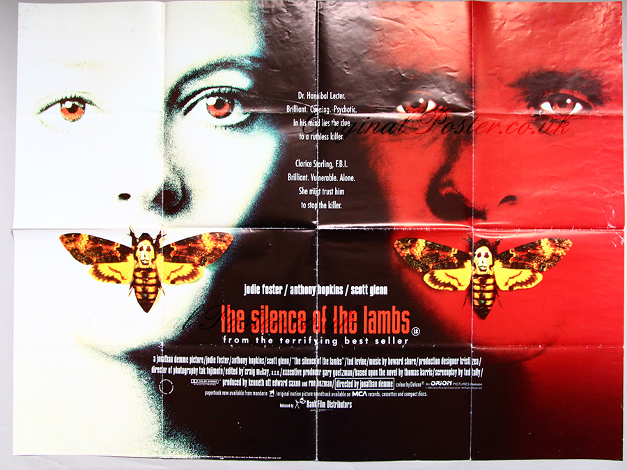 The Silence of the Lambs, Original Vintage Film Poster ...