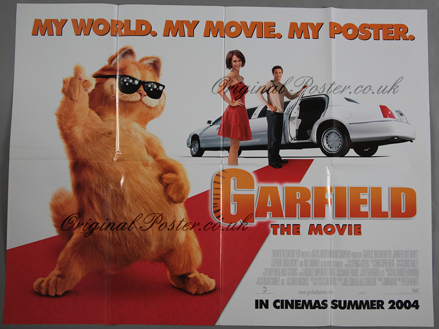 Garfield Original Vintage Film Poster Original Poster Vintage Film And Movie Posters