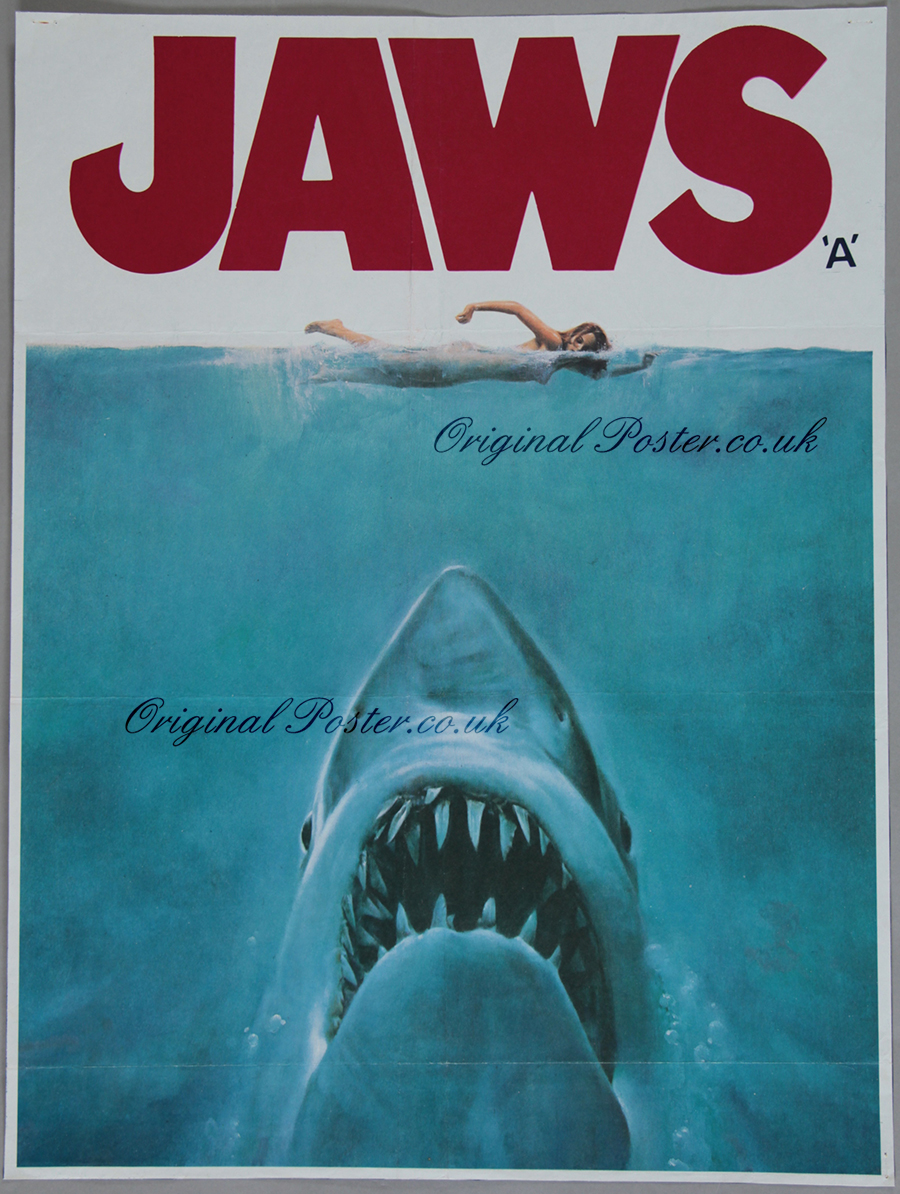 original jaws movie poster in french