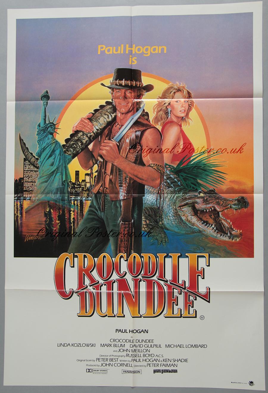 Crocodile Dundee, Original Vintage Film Poster | Original ...
