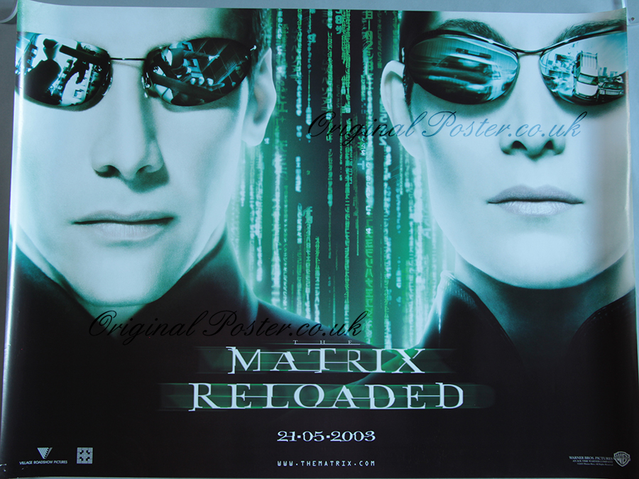 Matrix Reloaded, Original Vintage Film Poster | Original ...