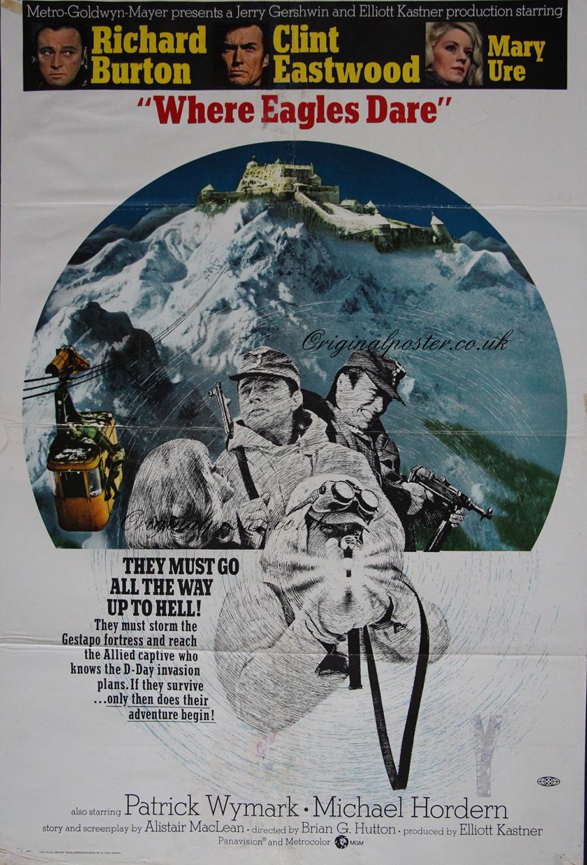 Where eagles dare original movie poster ebay