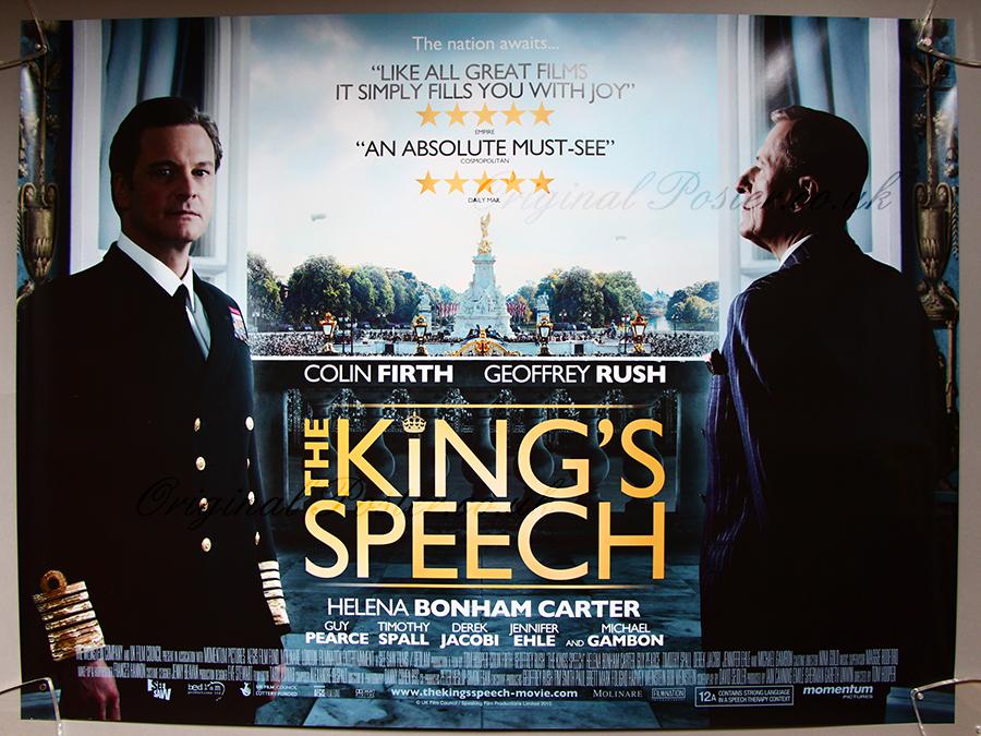 The King S Speech Original Vintage Film Poster Original