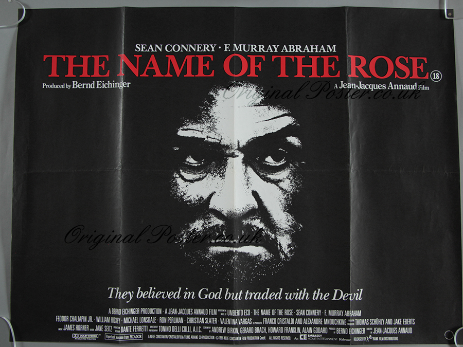 The name of the rose movie poster print